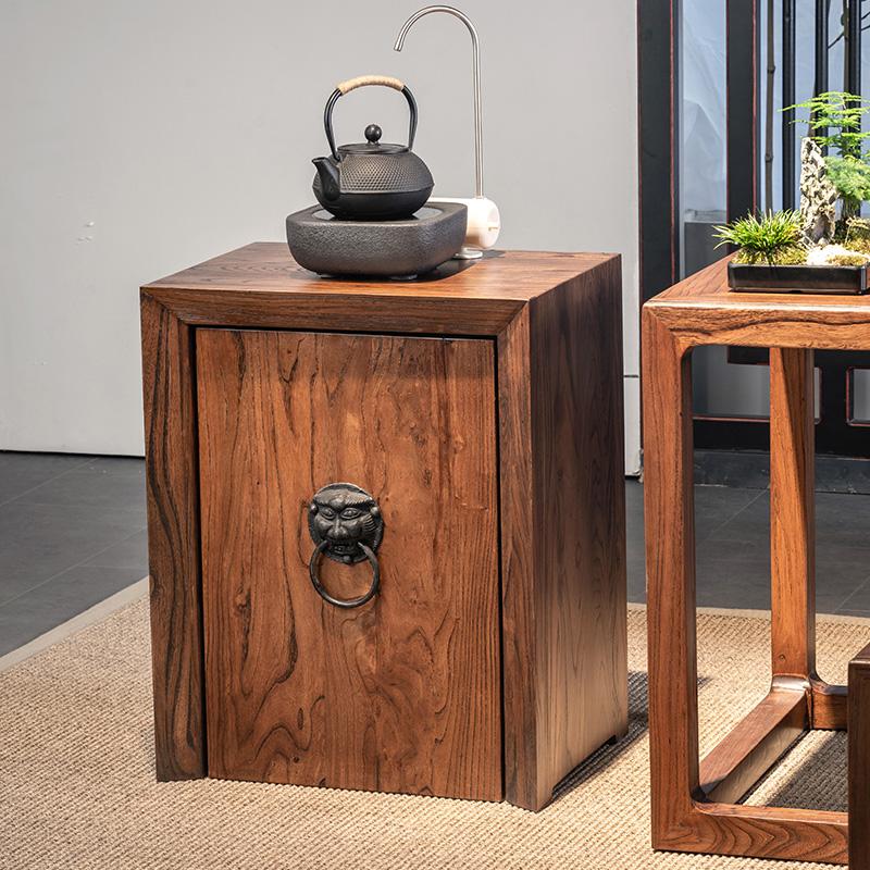 茶水柜实木小茶柜新中式简约饮水机柜水桶柜子客厅架烧水餐边柜