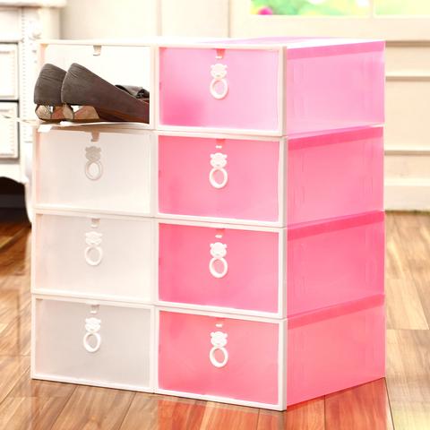 6只装塑料透明鞋盒鞋子收纳盒男女抽屉式鞋盒子家用宿舍简易鞋盒