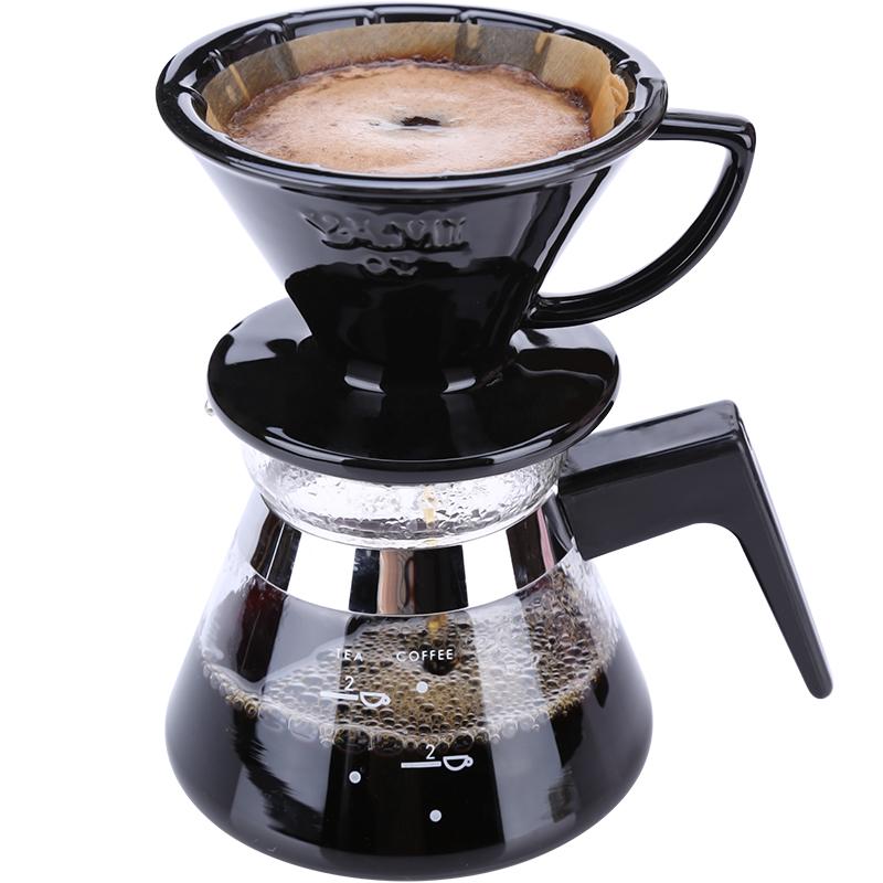 亚米咖啡壶家用手冲咖啡壶套装咖啡滴漏壶陶瓷滤杯煮咖啡组合器具