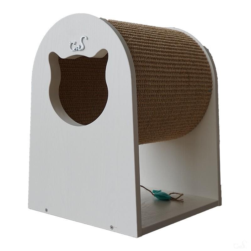 CatS猫家具剑麻猫钻筒 猫抓柱猫抓板 木制猫屋猫咪玩具 包邮 - 图3