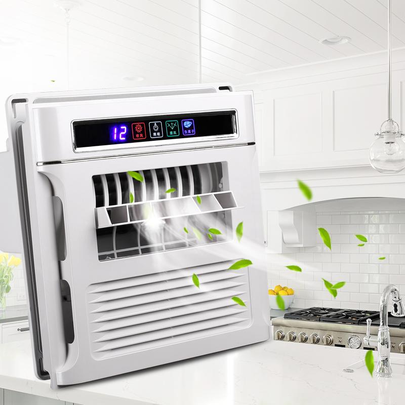 智能家用廚房涼霸集成吊頂電風扇衛生間吸頂式冷風機超薄遙控冷霸