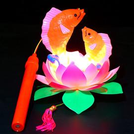 新款儿童灯笼玩具手提发光小灯笼新年2019带音乐花灯春节中秋节