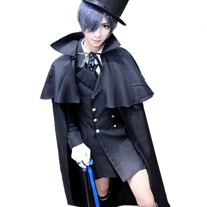 现货黑执事夏尔cos服 装女送葬cosply服装男动漫全套日常万用西装