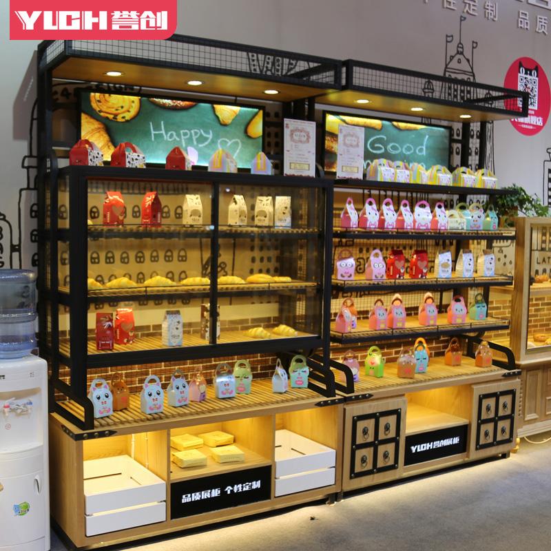 面包柜边柜面包架子多层面包架蛋糕店货架面包边岛柜展示架置物架