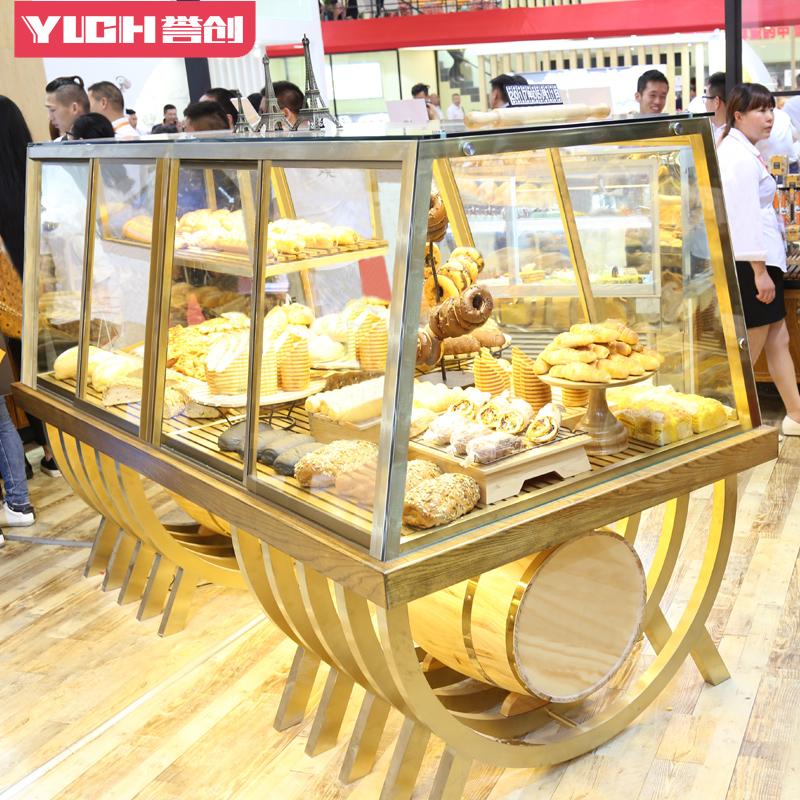 面包柜蛋糕店设备面包展示柜中岛柜展示架边柜面包架陈列道具货架