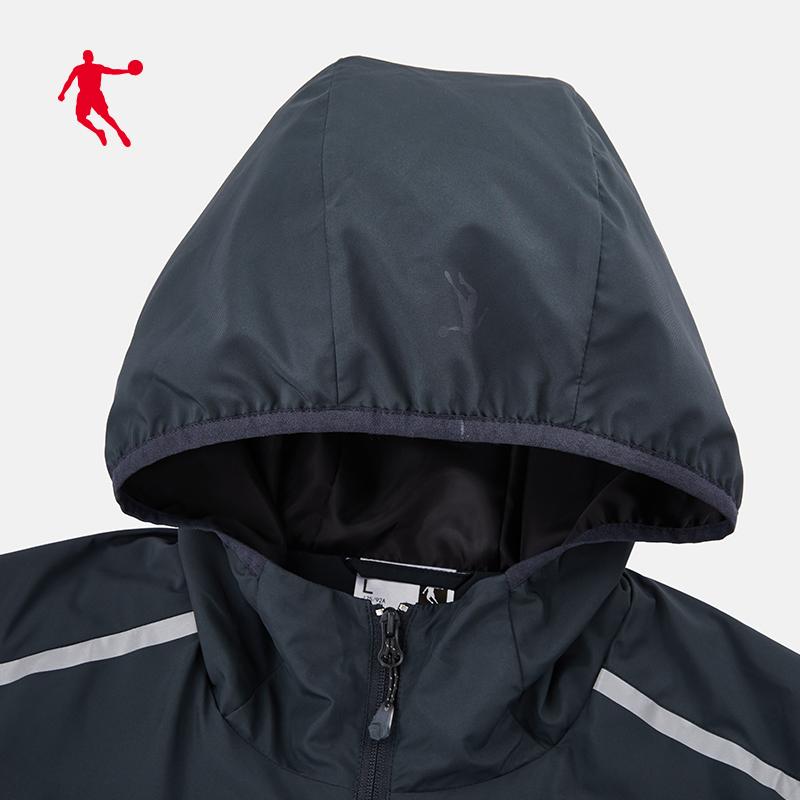 乔丹运动外套男 秋季新款防风宽松男士休闲上衣运动风衣夹克男  2019
