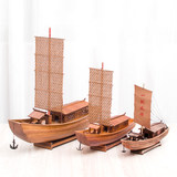 Oya Dijia sailing boat model handmade wooden model boat fishing boat Shaoxing awning gift