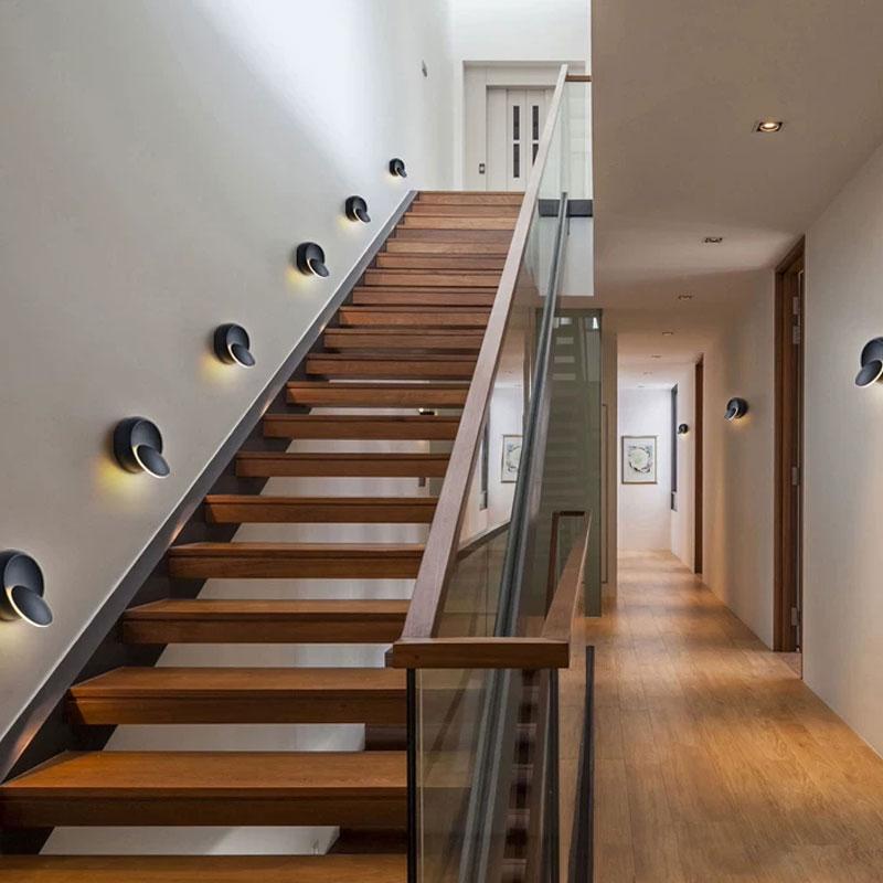 灯具热销 LED 追月壁灯简约创意个姓卧室客厅楼梯背景酒店房间过道