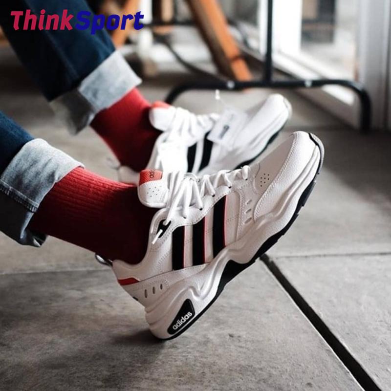 阿迪达斯STRUTTER男女复古老爹鞋运动休闲跑步鞋EG2689/E