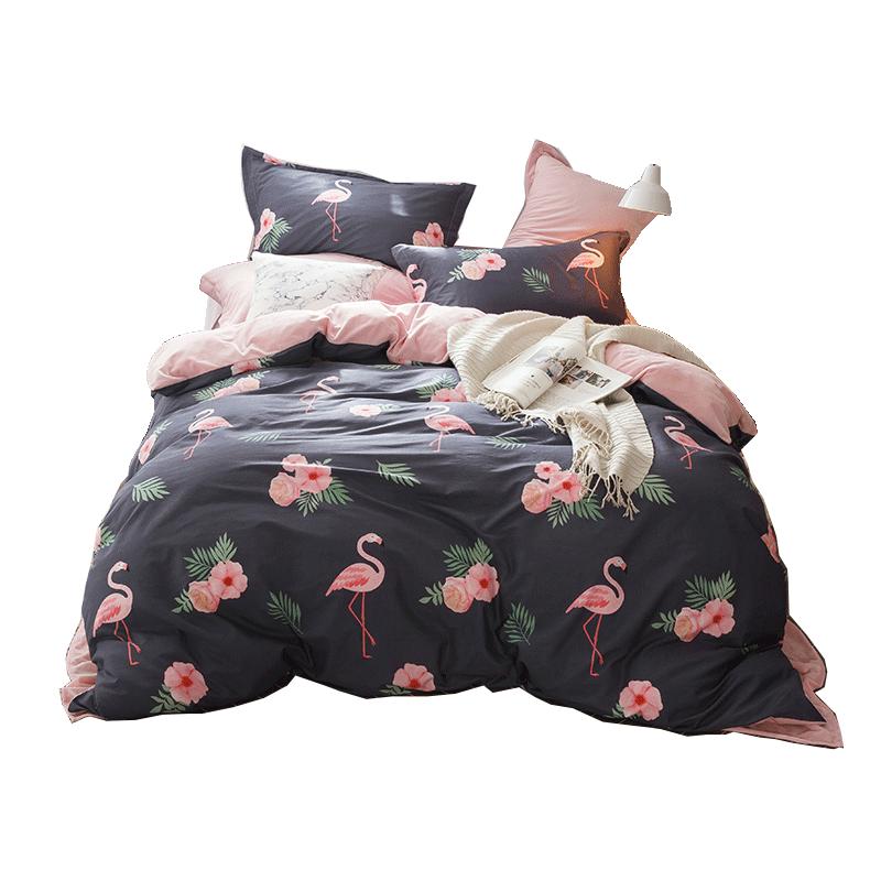 紫罗兰加厚保暖棉加绒保暖四件套冬季1.8m床上用品被套床单4件套