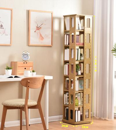 厂家直销360度旋转书架落地柜收纳柜置物架CD架杂志多功能收纳柜