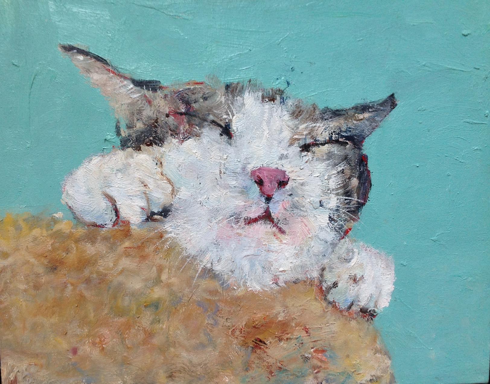 包郵無框純手繪油畫貓咪狗狗系列店現代簡約玄關客廳掛畫動物油畫