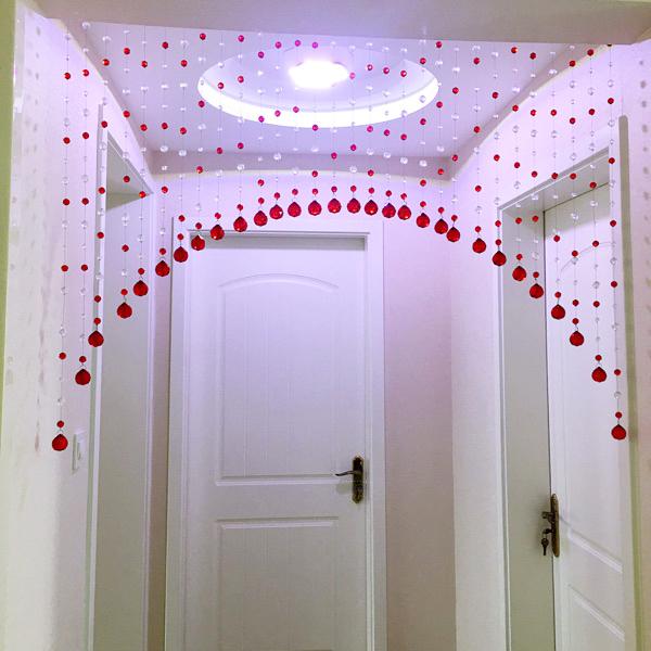 水晶门帘珠帘客厅半挂隔断珠珠卫生间风水帘卧室鞋柜装饰帘子成品