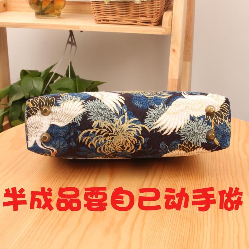 拎手口金包DIY材料包20cm方形斜挎包打发时间手工DIY缝纫 半成品