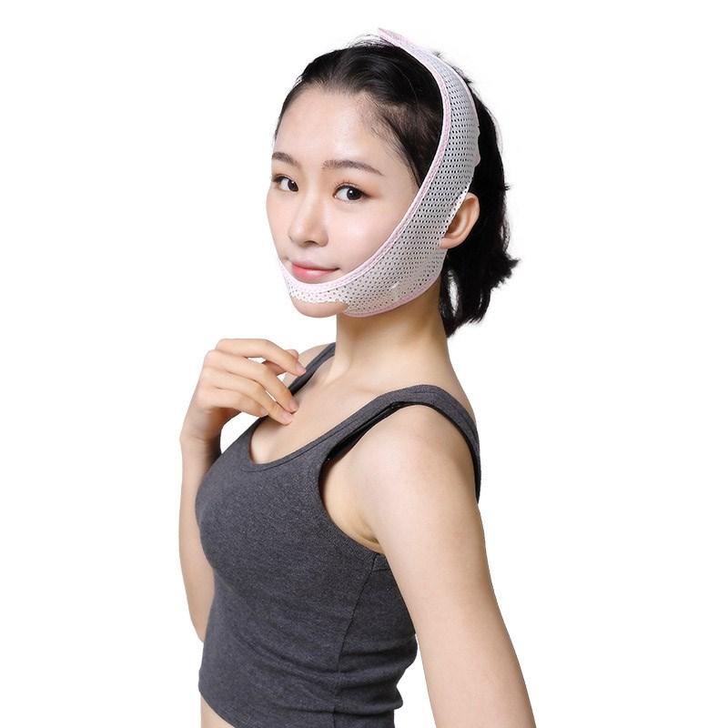 瘦脸绷带v脸神器仪面罩小瘦双下巴面部提拉紧致睡眠带脸型矫正器
