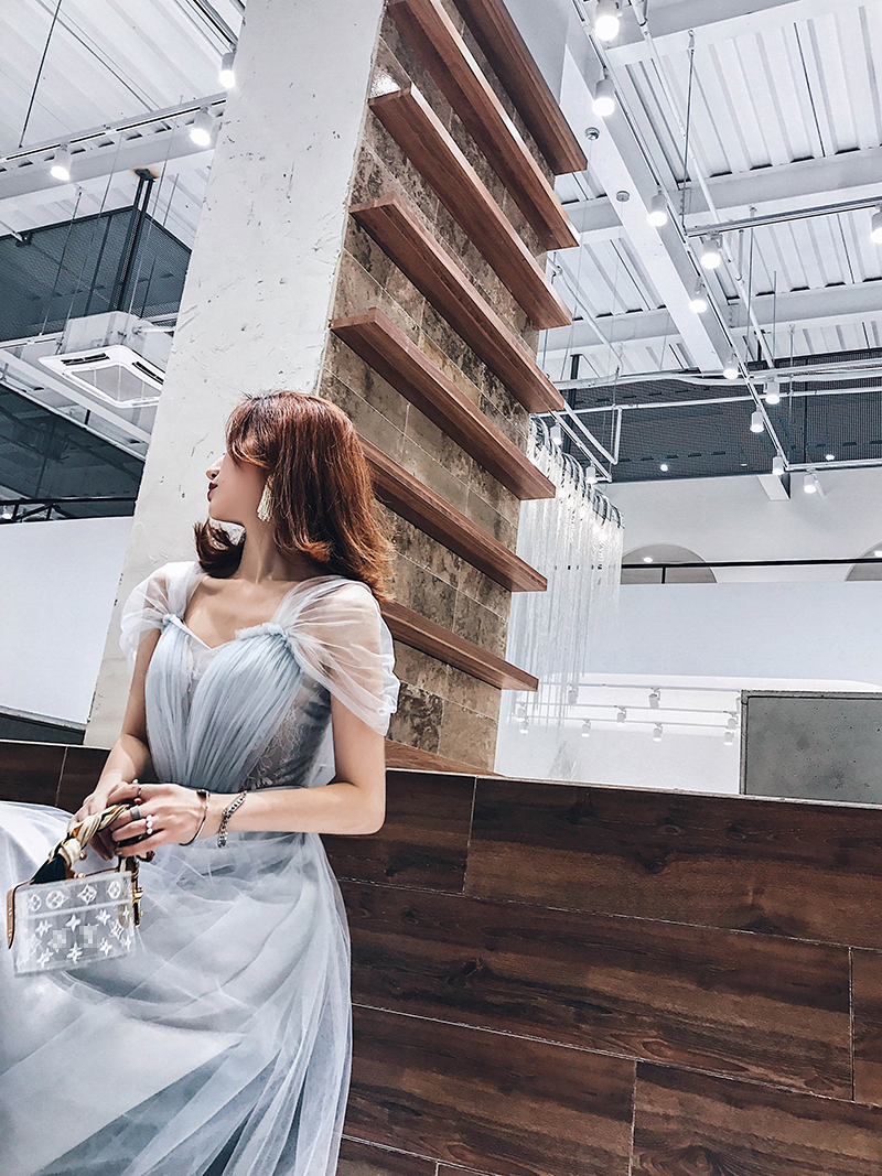 【小Q家】韩版显瘦长款新娘婚礼伴娘服女敬酒服宴会年会晚礼服裙