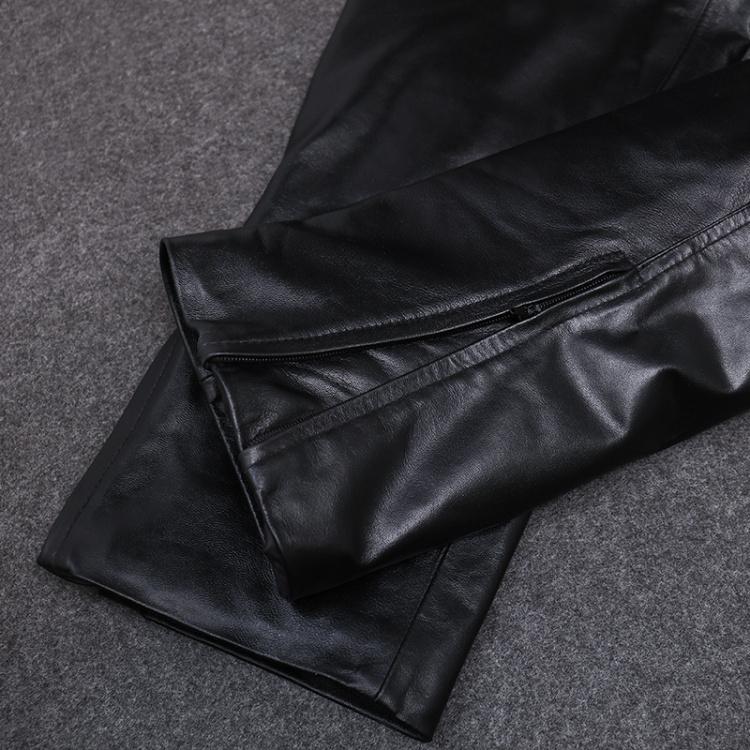皮裤男款真皮男士中老年头层羊皮特价裤子秋冬防风保暖摩托机车裤