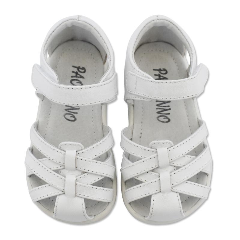 意大利 Paobinno 夏季款女童鞋女孩宝宝公主风羊皮真皮凉鞋中小童