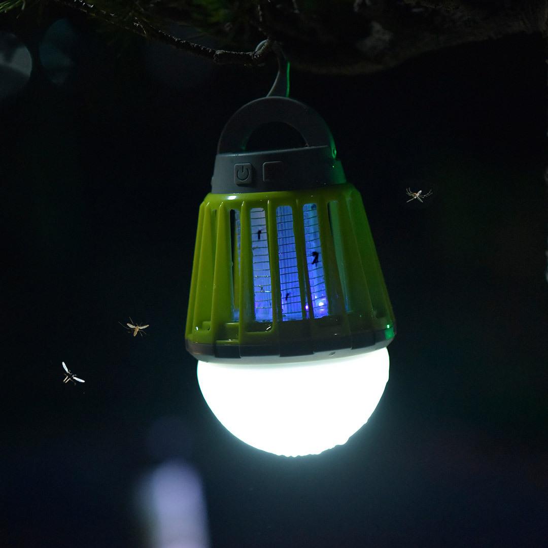 防水电击型灭蚊灯家用无辐射驱蚊神器室内一扫光户外充电式夜钓灯