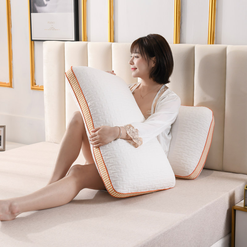 可水洗机洗热熔枕芯枕头单人一只枕套套装一对装家用全棉护颈椎枕