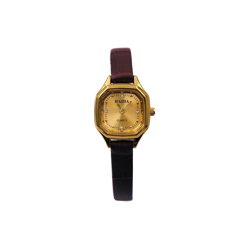 海达钛合金皮带小方表简约小清新复古经典八角手表女