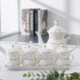 Continental gilt cups Tea Set package of tea cups with lid ceramic cup cup cup large capacity home