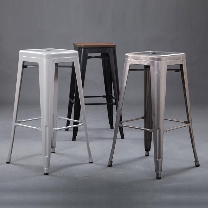 欧式铁皮凳 吧台凳高脚凳酒吧吧凳穿鞋凳儿童凳金属凳经典做旧凳