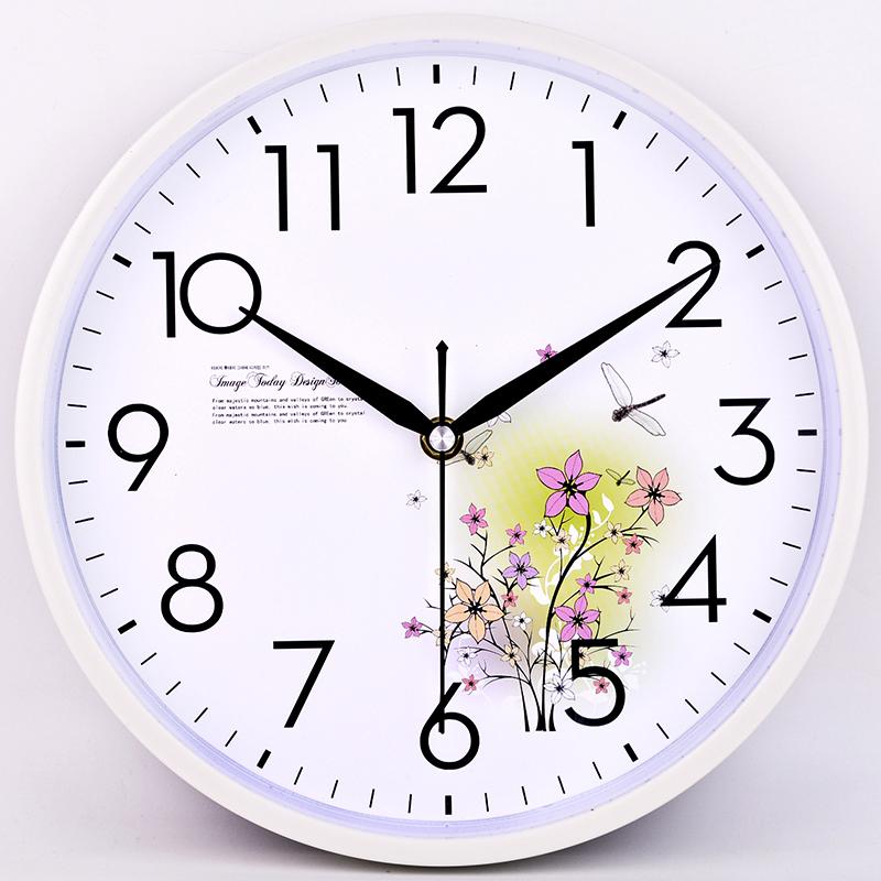 静音挂钟客厅卧室钟表现代简约卡通石英钟表创意挂表个姓家庭时钟