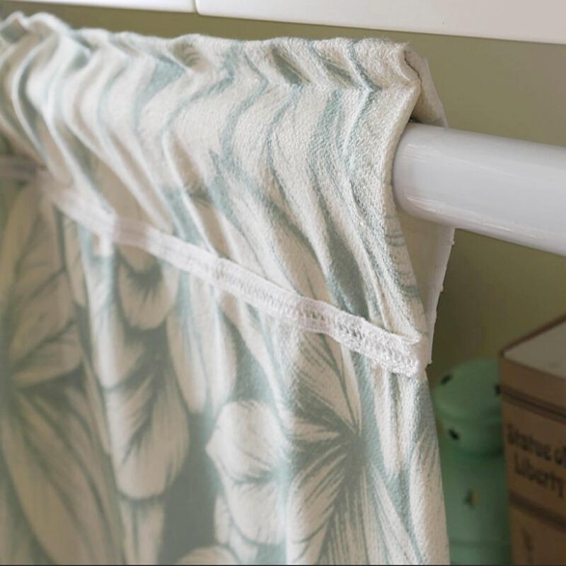 窗帘杆子白色烤漆伸缩杆不锈钢窗帘杆免打孔安装拉杆穿门帘申缩杆