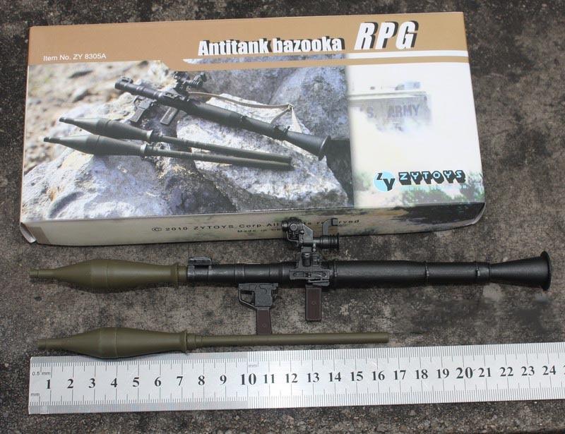 ZYTOYS 1/6 RPG-7反坦克火箭筒木纹色ZY16-17 模型