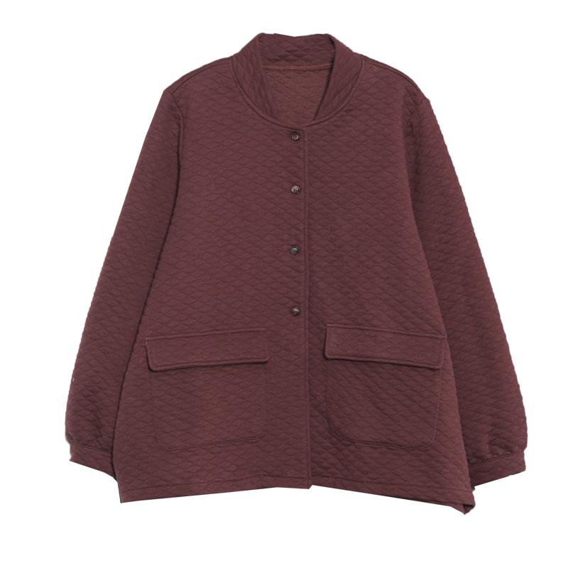 物格春装新款2019韩版宽松大码文艺休闲菱形格单排扣开衫短外套女