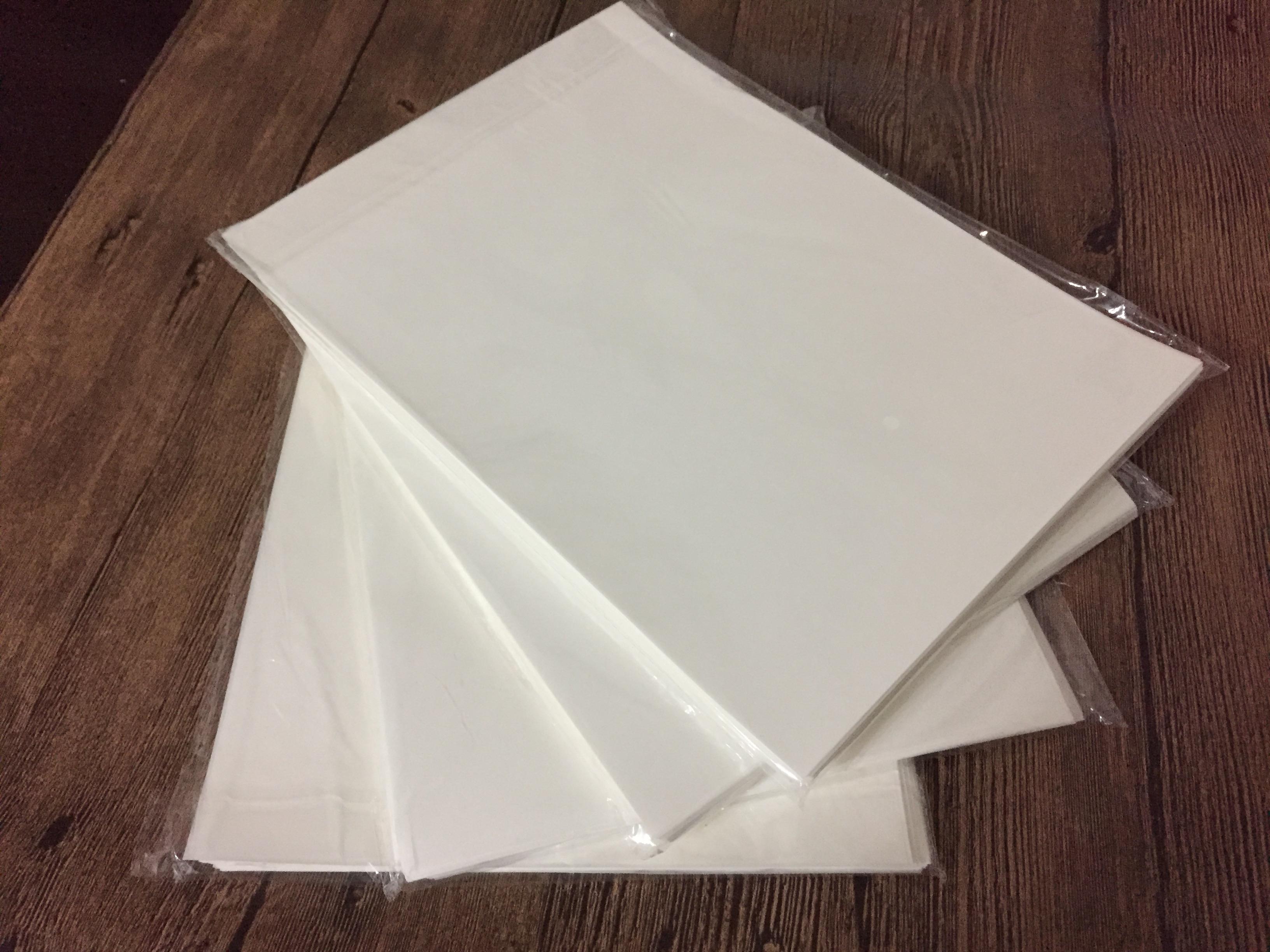 A4a5单双面硅油纸防粘离型手帐底纸隔离膏药纸规格可定制全国包邮
