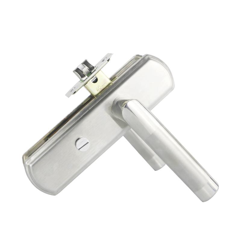 不銹鋼衛生間門鎖無鑰匙室內臥室洗手間鋁合金單舌廁所通用型把手