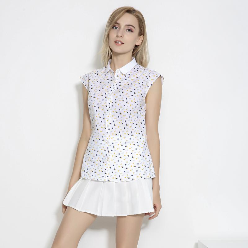 天天特价 波点衬衫女 休闲白色衬衣女职业装春秋新款内搭显瘦百搭