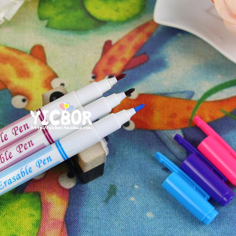 14款 布用画图笔 布艺手工diy布料临时画笔十字绣笔 水消笔气消笔