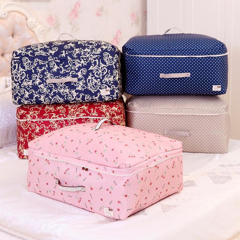 天縱加厚被子收納袋套裝棉被收納袋儲物袋衣物整理箱收納箱特大號