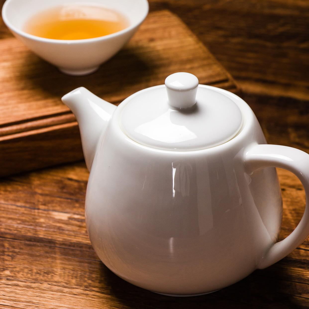 阿七 現代中式白色骨瓷茶壺陶瓷大號小號單壺花茶壺沏茶壺帶過濾