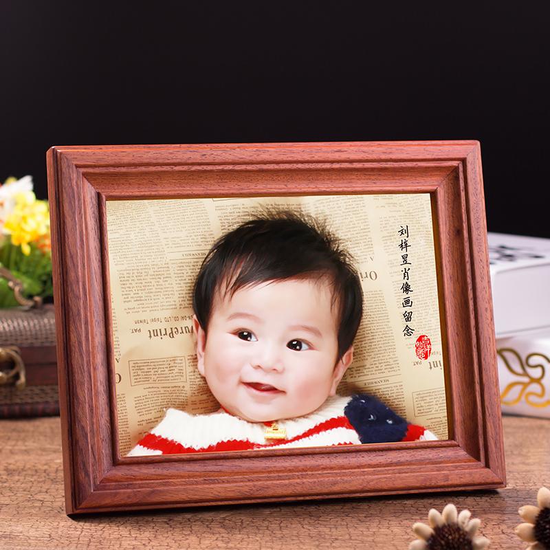 百天礼满月宝宝胎毛画婴儿手足脚印泥笔脐带章纪念品diy自制包邮