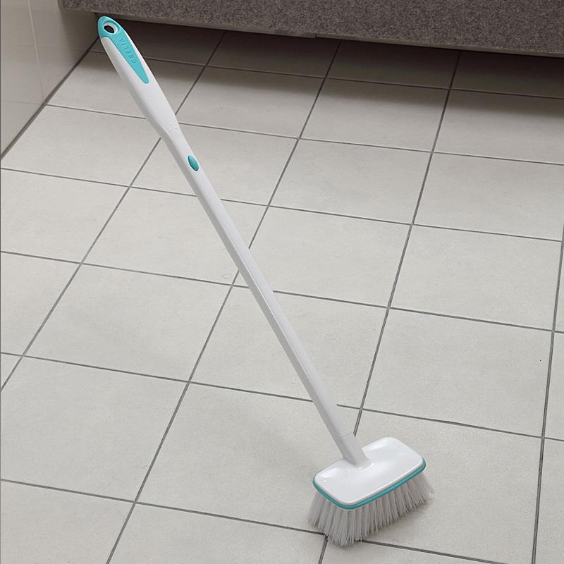 日本AISEN 浴室刷浴缸衛生間硬毛地刷地板刷長柄廚房瓷磚清潔刷子