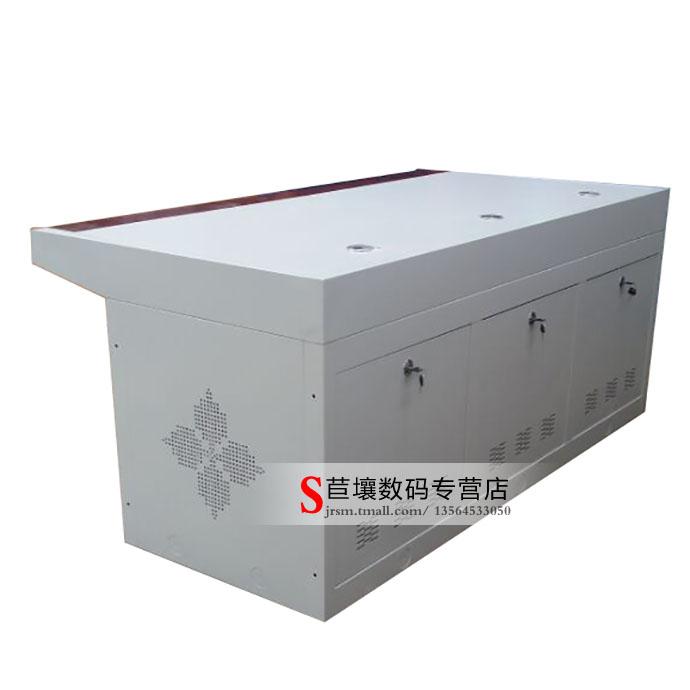 三联操作台 加厚型 台面是1.2MM冷轧钢板 3联监控台 控制台