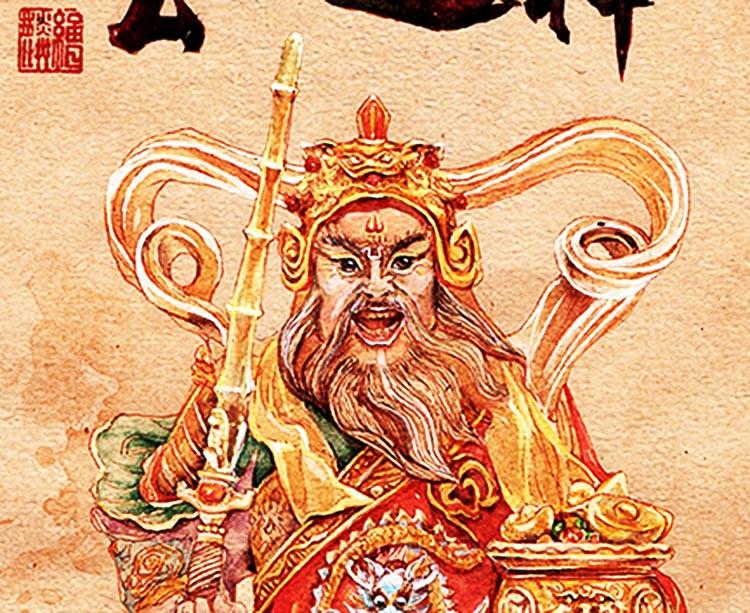 國畫武財神趙公明畫像趙元帥絲綢卷軸掛圖財源滾滾客廳辦公室裝飾
