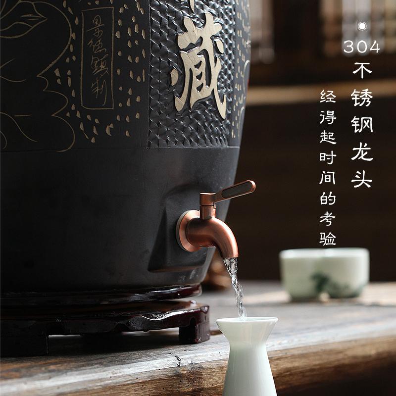 景德镇陶瓷酒坛酒缸仿古泡酒罐10 50斤装家用密封空存藏白酒坛子