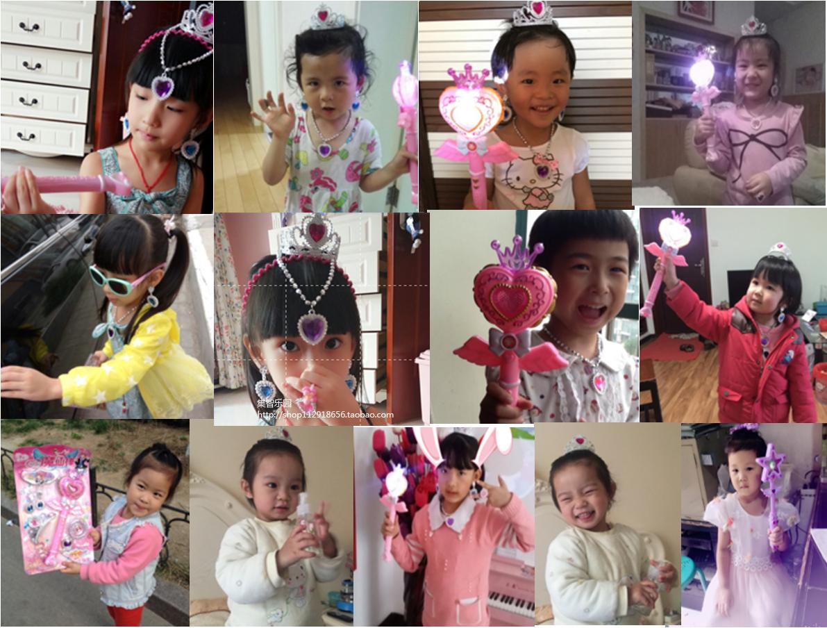 热卖音乐灯光幻影魔法棒套装 小魔仙 女孩礼物儿童玩具特价