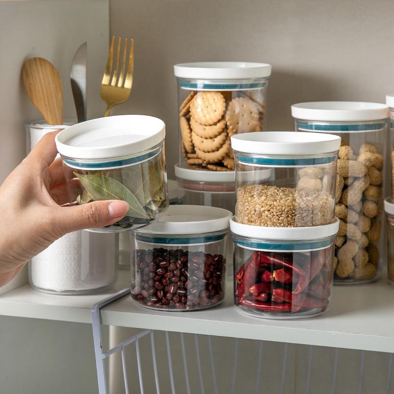 居家家食品收纳盒储物罐塑料罐子厨房收纳罐储存罐五谷杂粮密封罐