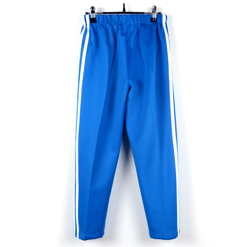 蓝色校服裤两道杠春秋初中小学生校服长裤白边男童女高中学生夏装