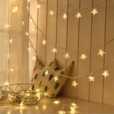 Ins girl heart net red star lights string small lights children birthday party decorations supplies wedding arrangements