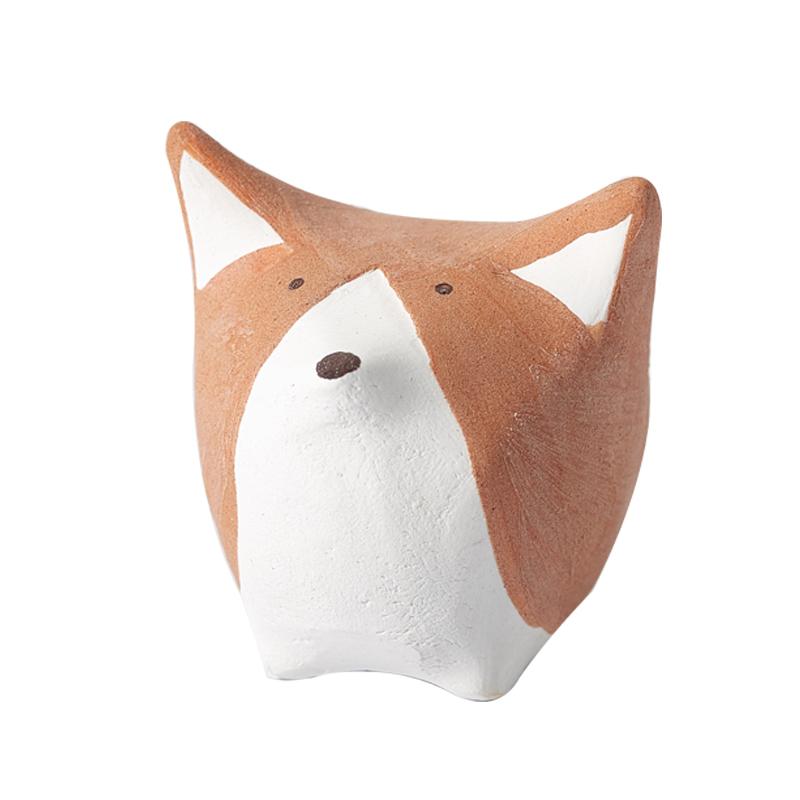 景德镇陶瓷小动物摆件创意可爱ins饰品房间卧室家居汽车装饰礼物