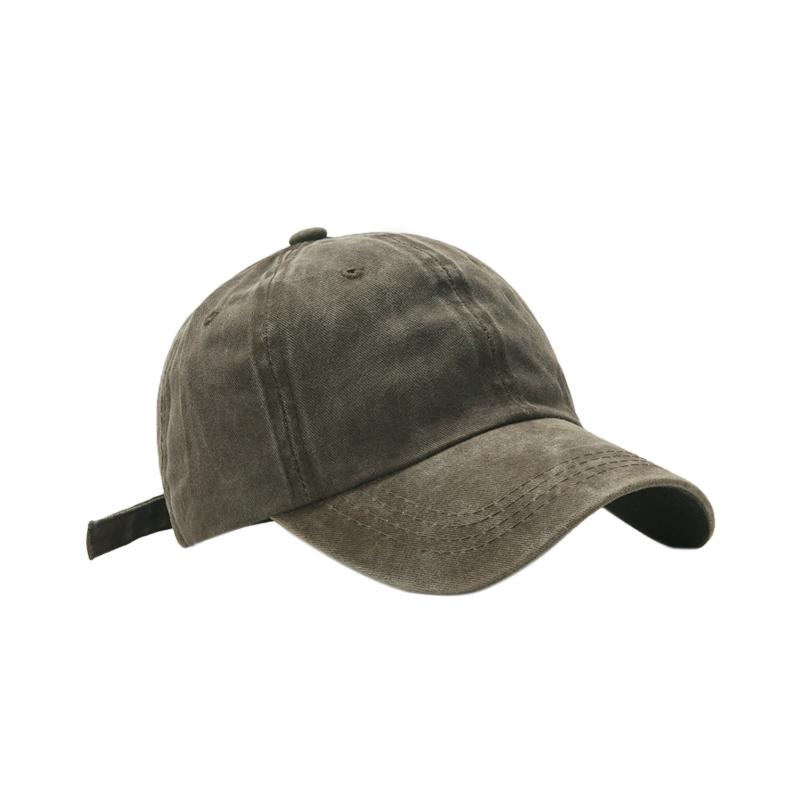 水洗牛仔帽子女春夏弯檐遮阳帽韩版简约百搭棒球帽男网红款鸭舌帽