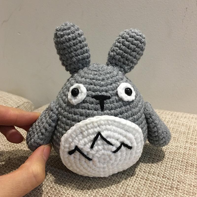 送教程 创意礼物材料包 纯手工钩织龙猫玩偶 西米概念