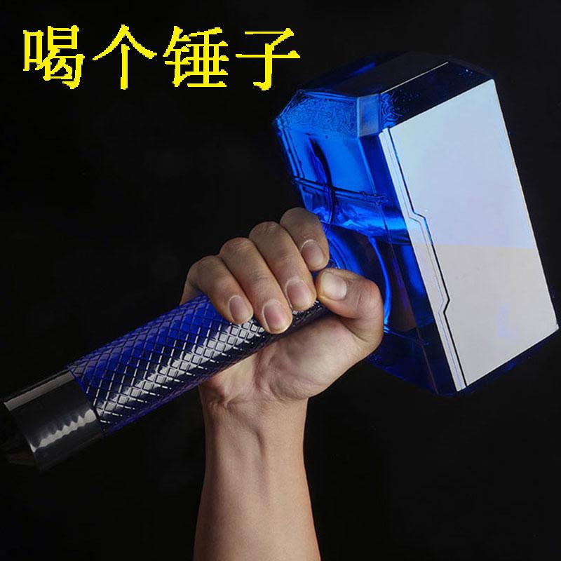 雷神之錘1.5升運動水杯健身大容量2便攜1700ml超大號創意鎚子水壺
